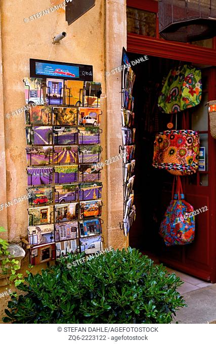 Sale of Postcards in Roussillon, Provence, France