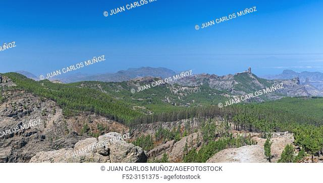 Roque Nublo sacred mountain, Peaks Protected Landscape, Paisaje Protegido de las Cumbres, Gran Canaria Island, The Canary Islands, Spain, Europe