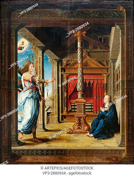 Flemish School - The Annunciation - 1520- XVI th Century - Gemäldegalerie - Berlin