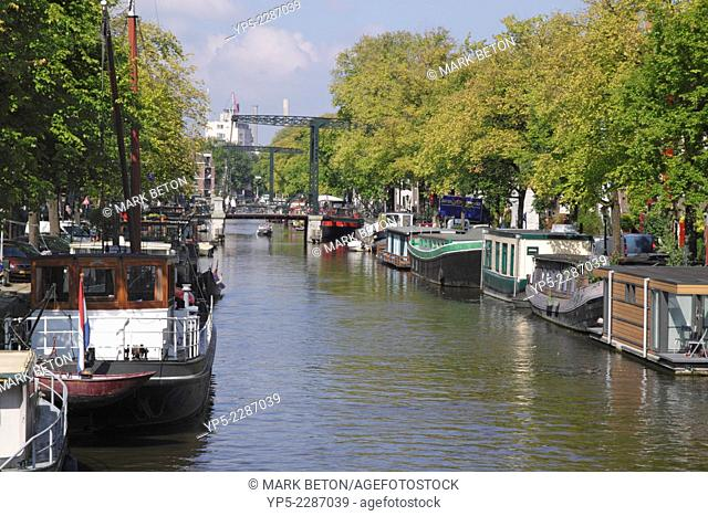 Brouwersgracht Canal in Western Canal Ring District Amsterdam Holland