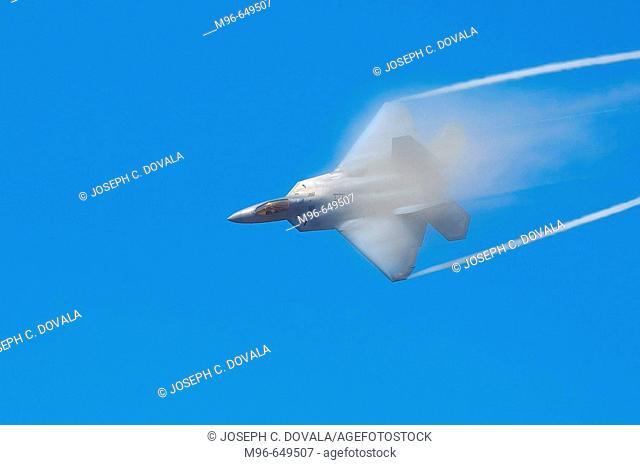 USAF F-22 Raptor breaking sound barrier