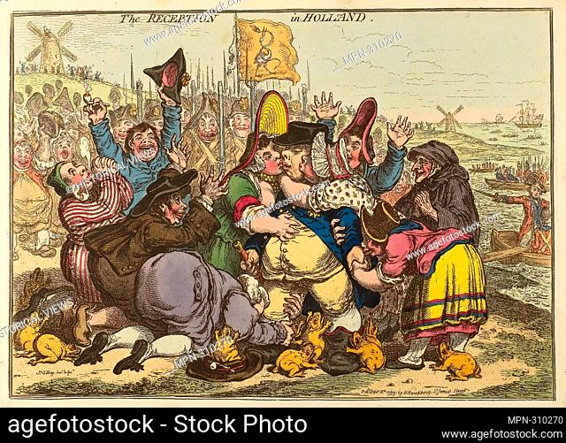 Author: James Gillray. The Reception in Holland - published September 8, 1799 - James Gillray (English, 1756-1815) published by Hannah Humphrey (English, c