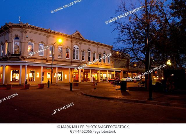 Night Scene, Santa Fe, New Mexico, USA