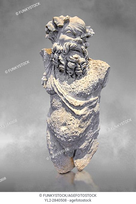 Roman statue of Silenus or Papposilenus from the mid 2nd cent. AD excavated from the Villa Spithoever, via Flavia, Rome, Italy