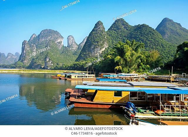 Ships, Xingping, Li River, Guangxi, China