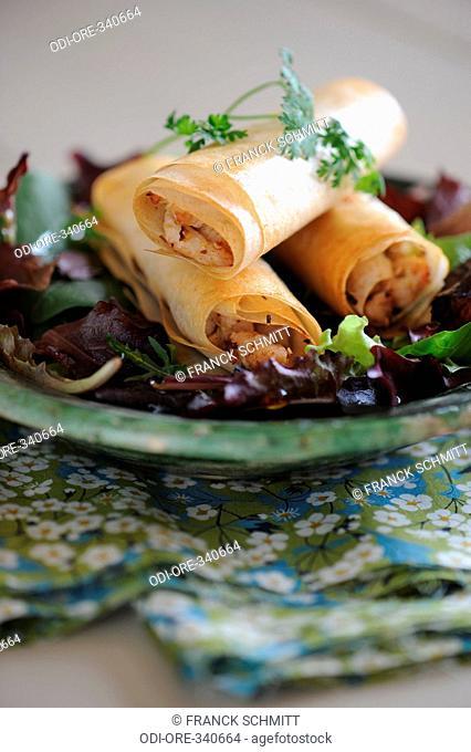 Chicken and citronella rolls