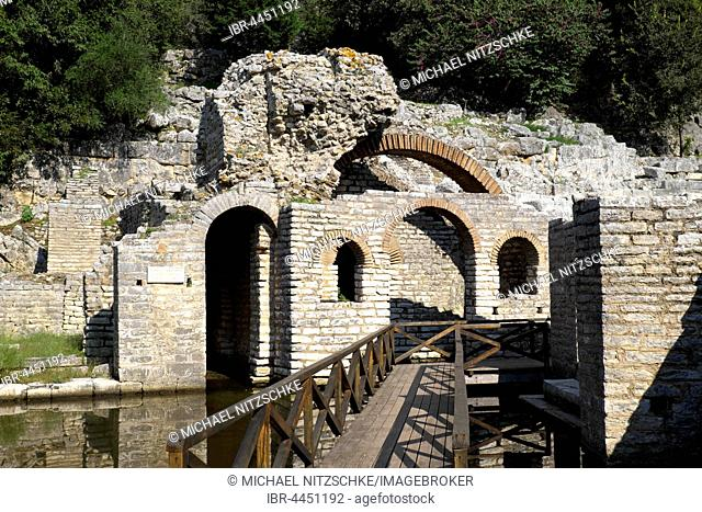 Treasury of Asklepios sanctuary, ruins of Butrint, Vlora region, Albania