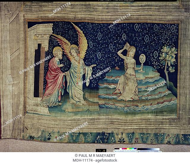 La Tenture de l'Apocalypse d'Angers, La Grande Prostituée sur les eaux 1,48 x 2,43m, die große Hure am Wasser