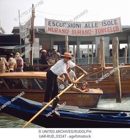 Reise nach Venedig, Italien 1980er Jahre. Journey to Venice, Italy 1980s
