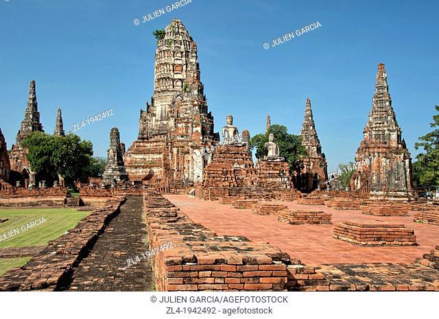 Wat Chai Watthanaram. Thailand, Ayutthaya, Wat Chai Watthanaram