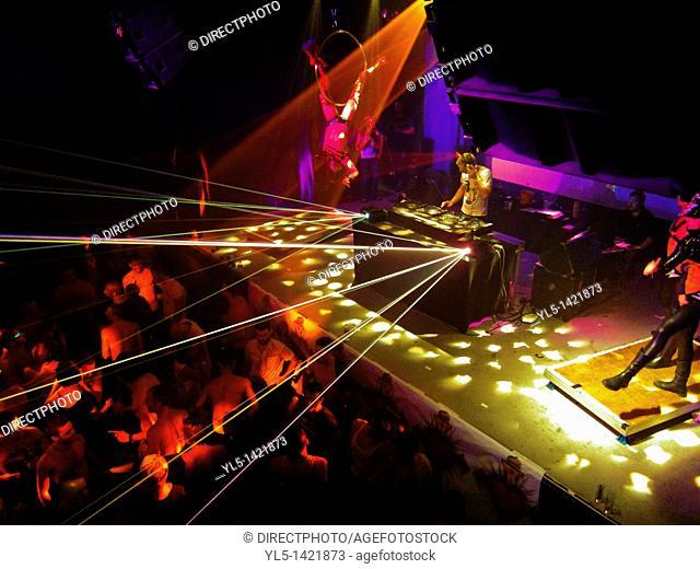 Paris, France, Gay Nightclub, Gays Dancing, Scream Party Night, La Machine CLub du Moulin Rouge
