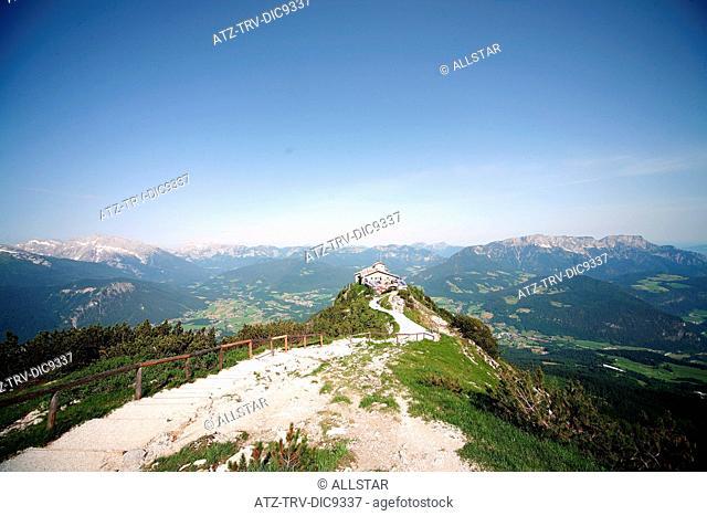 EAGLES NEST, KEHLSTEINHAUS, HOCHKALTER, LATTENGEBIRGE & UNTERSBERG MOUNTAINS; NEAR BERCHTESGADEN, GERMANY; 10/06/2008
