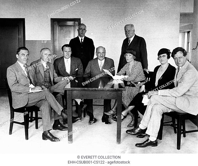 Leaders of Anti-Prohibition Organizations met in the Empire State Building in NYC, June 6, 1932. They want a wet plank to end Prohibition in the Republican...