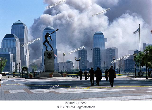 World Trade Center Attack Aftermath September 11, 2001 Jersey City New Jersey USA