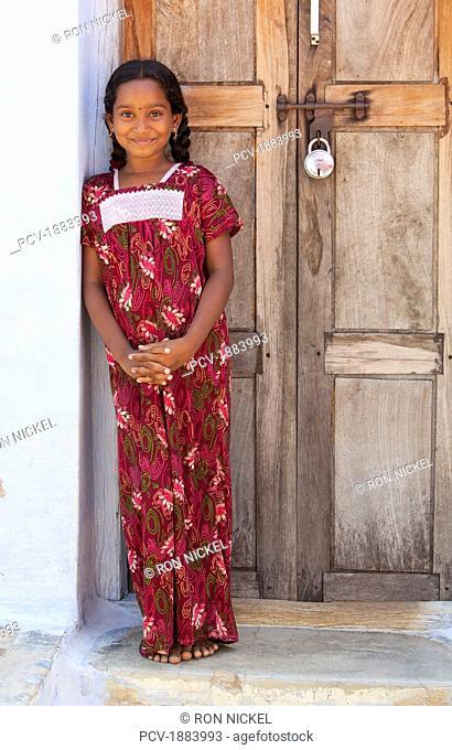 Portrait Of A Girl, Sathyamangalam, Tamil Nadu, India