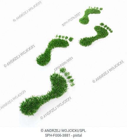 Environmental footprint, conceptual computer artwork