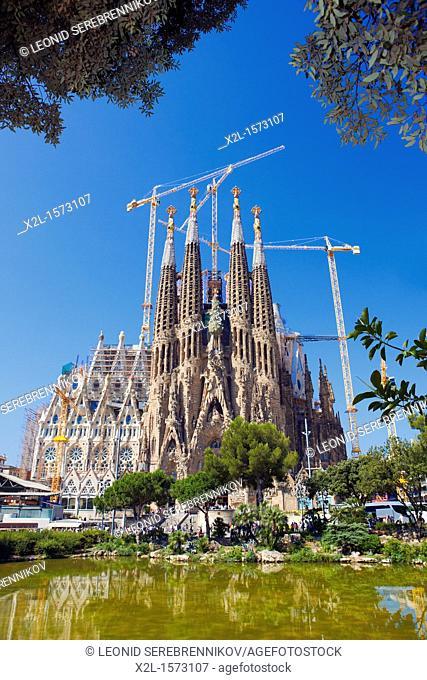 Sagrada Familia church, or Expiatory Church of the Holy Family  Barcelona, Catalonia, Spain