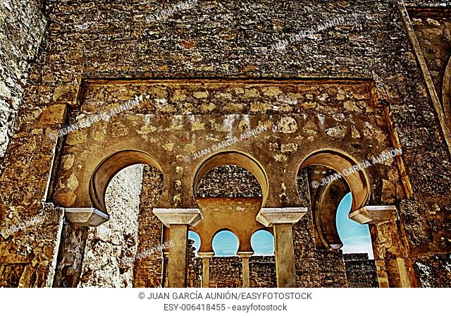 Upper Basilica Buildingon Archaeological Site of Medina Azahara, Madinat al-Zahra, Near Cordoba, Andalusia, Spain