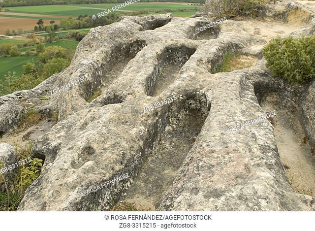 Necropolis of Peña San Clemente, Quintanamaria, Las Merindades, province of Burgos, Castilla y Leon, Spain