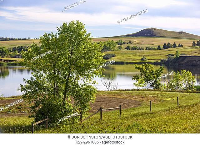 Sweetbriar Lake in late summer, Mandan, North Dakota, USA