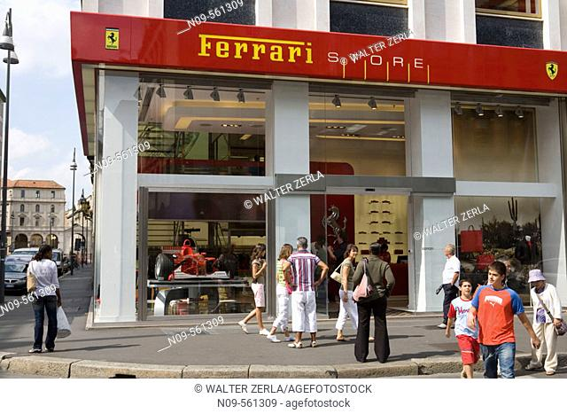 Ferrari shop central Florence Firenze Tuscany central Italy Europe ...