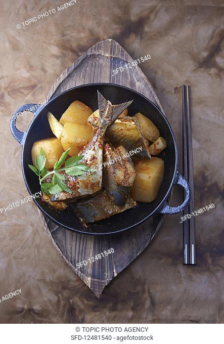 Braised mackerel (Korea)