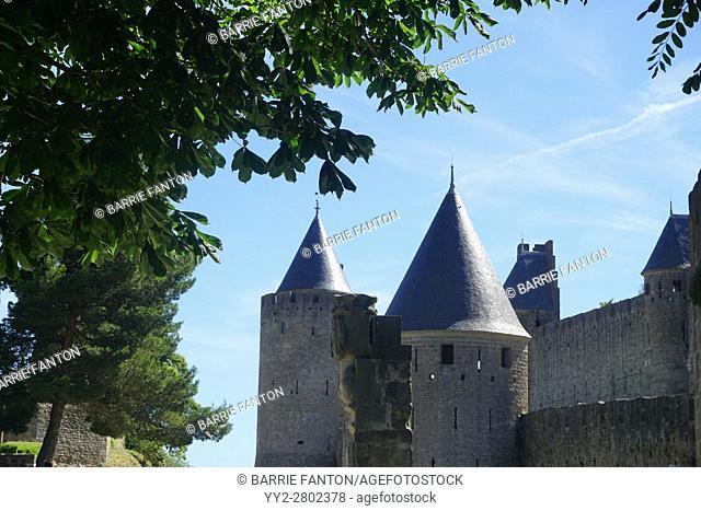 Castle Turrets, Carcassonne, France