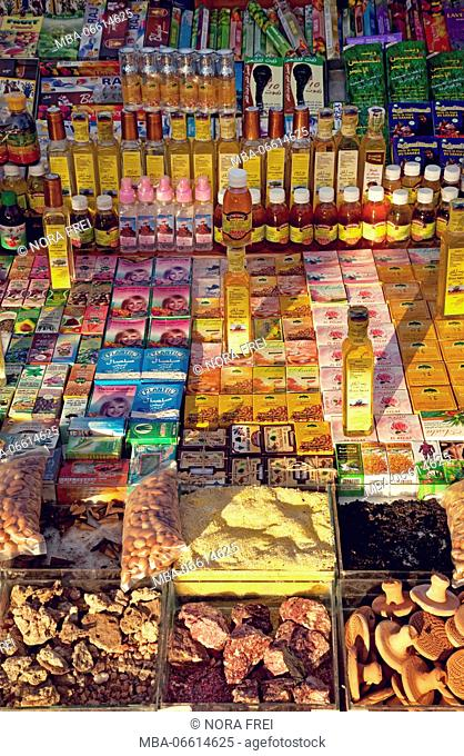 Marrakech, market stall, Medina, Morocco