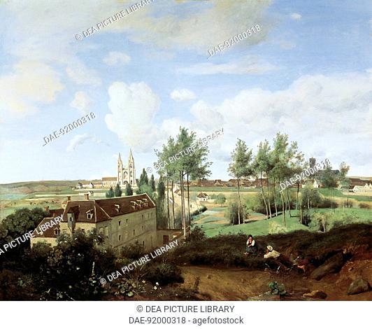 View of Soissons, by Jean-Baptiste-Camille Corot (1796-1875), 80x100 cm.  Otterlo, Rijksmuseum Kroller-Muller