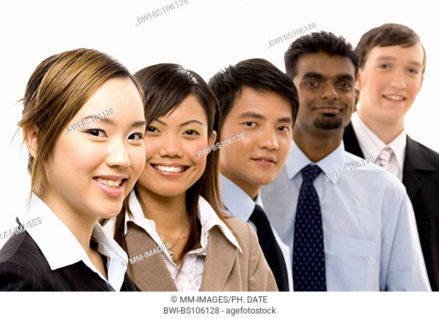 A confident and diverse group of young business personnel
