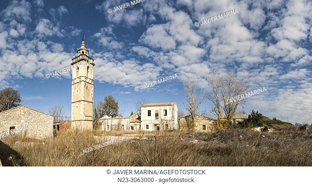 "Only preserved remnant of the convent of Santo Domingo, Tower of """"Les Llastimes"""", San Mateo, Castellón, Spain"
