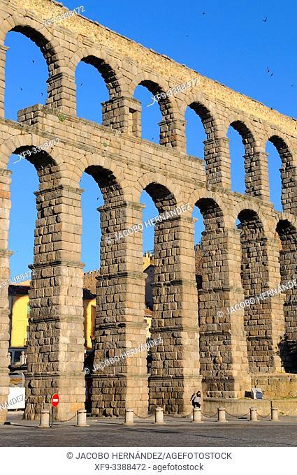Roman acueduct of Segovia. Castilla y León. Spain