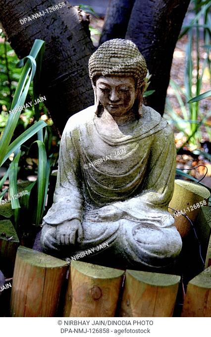 Gautam Buddha statue at London Suburb ; UK United Kingdom England