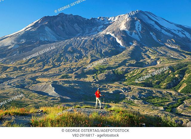 Boundary Trail to Mt St Helens, Mt St Helens National Volcanic Monument, Washington