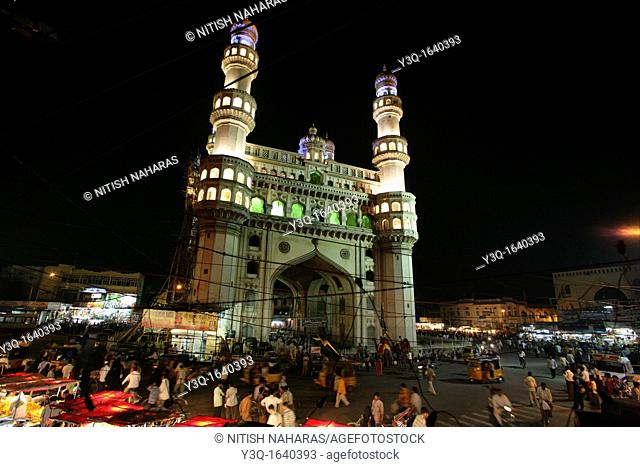 Charminar, a mosque of four minarets, is a monument located in the City of Hyderabad, the capital city of the state of Andhra Pradesh in India  It is a major...