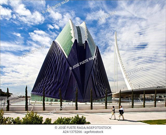 Spain, Valencia City, The City of Arts and Science built by Calatrava