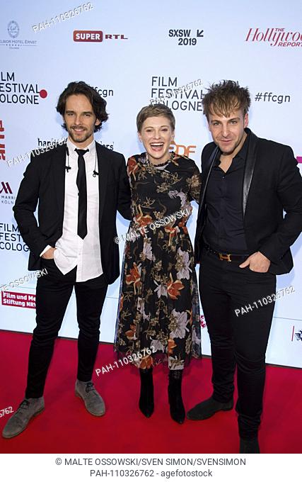 from left: xxxx Nadja FELK, Actress, Fabian PHILIPP, Actor, Red Carpet, Red Carpet Show, Arrival, arrival, Cologne Film Festival in Koeln, 12.10.2018