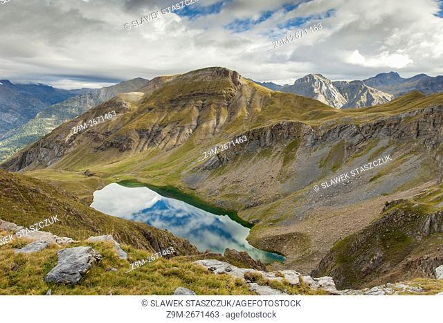 Ibon de Sabocos in Sierra de Tendenera, Huesca, Aragon, Spain. Pyrenees