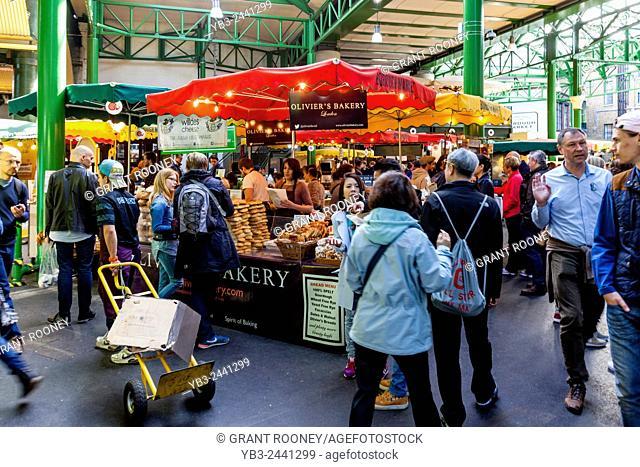 People Shopping In Borough Market, London Bridge Area, London, England