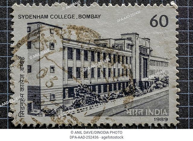 Sydenham college mumbai, postage stamps, india, asia