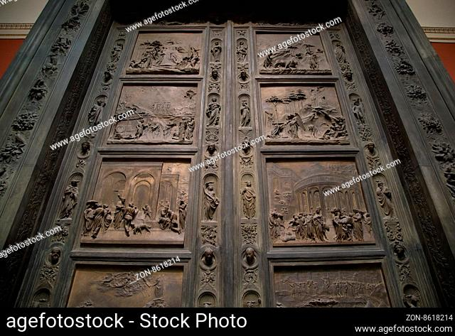 wrought iron doors with circular handle