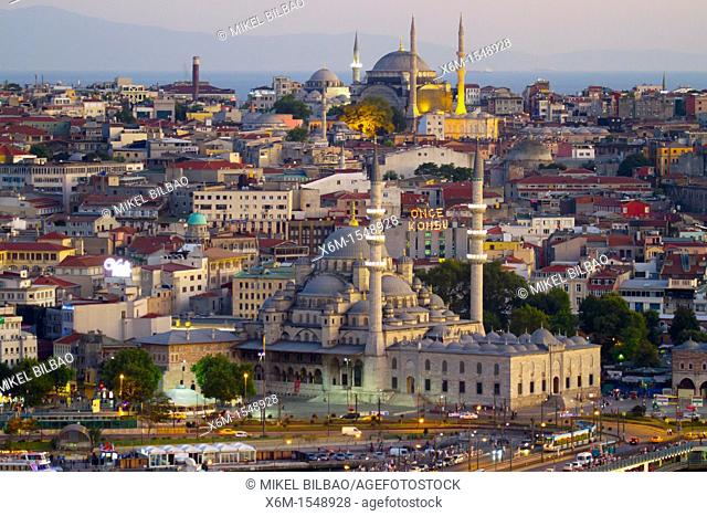 Cityscape with mosques  Istanbul, Turkey