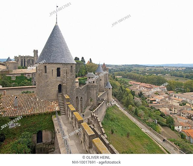 Cité of Carcassonne, World Heritage, Southern France, France, Europe