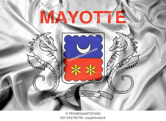 Waving Flag of Mayotte, France