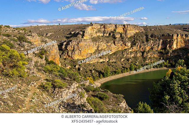 Hoces del Río Duratón Natural Park, Duratón River Gorges, Segovia, Castilla y León, Spain, Europe