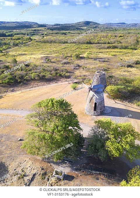 Panoramic elevated view of Betty's Hope, Antigua, Antigua and Barbuda, Caribbean, Leeward Islands, West Indies