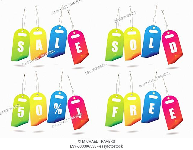 rainbow sale tags