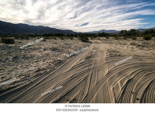 Desert Landscape in the Anza-Borrego Desert, California, USA