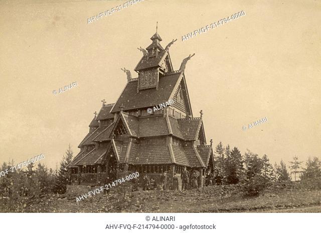 Norwegian characteristic house in Oslo, shot 1890-1900