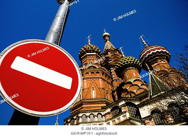 St Basil's Cathedral and road sign